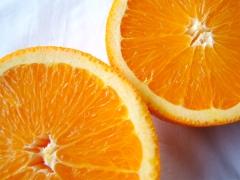 Orange basil water satisfies cravings